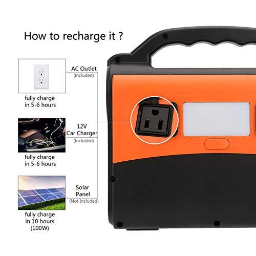 Jacksking Generador Solar portátil, 36Ah 150W Kit generador de energía Solar Almacenamiento de energía Solar Fuente de alimentación móvil Kit generador eléctrico(Enchufe de la UE)