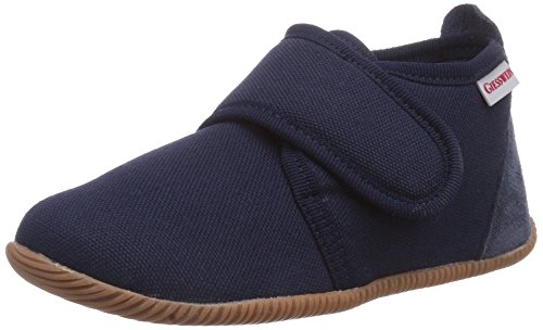 Giesswein Strass-Slim Fit, Pantofole a Collo Basso Unisex-Bambini, Blu (Dk.Blau 548), 24 EU