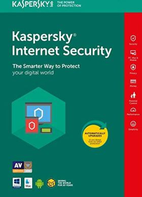 Kaspersky Internet Security 2019 1 Device 1 Year (Download link & Activation key on Amazon Message- Same Day Delivery)