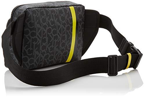Calvin Klein - Ck Mono Waist Bag, Shoppers y bolsos de hombro Hombre, Negro (Blackwhite Black/Black), 6x16x22 cm (B x H T)