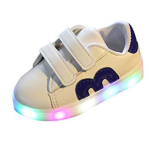 Jimmackey- Scarpe Primi Passi Scarpine Neonato Sneakers Bambino Scarpe LED Bambini Scarpe da Ginnastica per Bambini Luminose a LED in Cotone con Zip per Bambini Sneakers