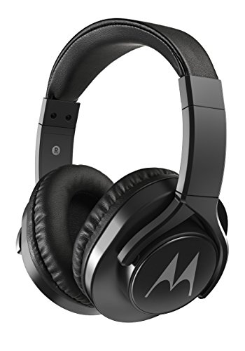 Motorola Pulse 3 Max Over Ear Wired Headphones with Alexa (Black)
