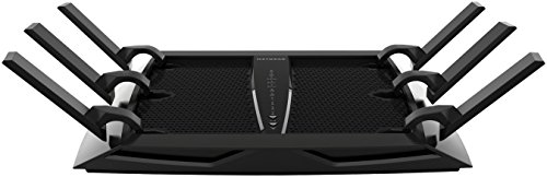 Netgear R8000 Nightahwk X6 Smart Router WiFi, Tri-Band AC3200 (3.2 Gbps), Condivisione e Backup Semplificato, Disponibile Circle Parental Control, Funziona con Alexa