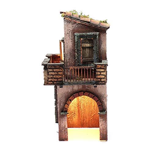 Holyart Casa in Legno per presepe Napoletano 38X15X16 cm