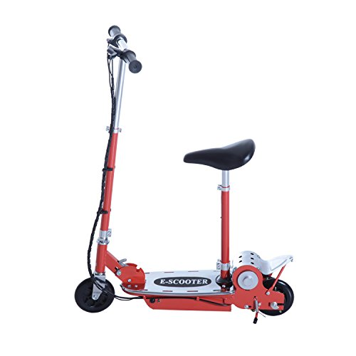 This is a decent electric scooter for kids from a renowned brand. It has a solid construction and it's easy to set up first time. The scooter offers a good range from a full charge and even the battery recharges in quick sessions. The flexibility that comes with the seat design is something to appreciate, while the way it folds down for storage is another positive element. We didn't find any hiccups with the HOMCOM 120W Teens Foldable E-Scooter, so we are convinced it's a reliable fun to ride for 14 year old kids.