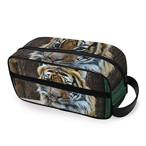 Wild Animal Tiger, trousse portatile per trucchi e cosmetici per donne e ragazze, multifunzione, da...