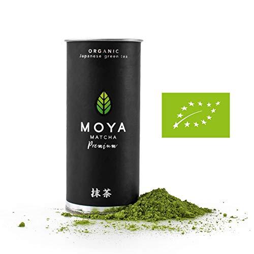 BIO Moya Matcha Tee Pulver Grün   30g Premium Zeremoniellen (I) Klasse   Organisch Gewachsen und Geerntet in Uji, Japan   Vegetarisch und Vegan Freundlich