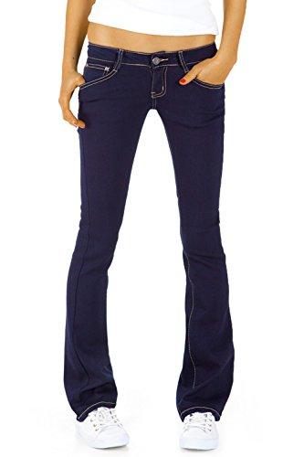 Bestyledberlin Damen Hüftjeans Jeanshosen, Bootcutjeans – Stretchjeans gerades Bein j43kw