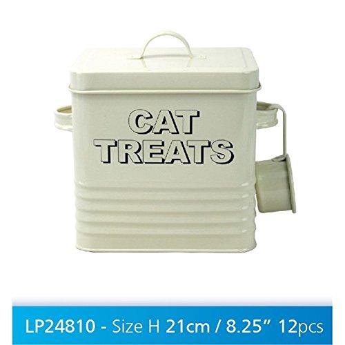 katzeninfo24.de Cat Treats Dose, Cremefarben