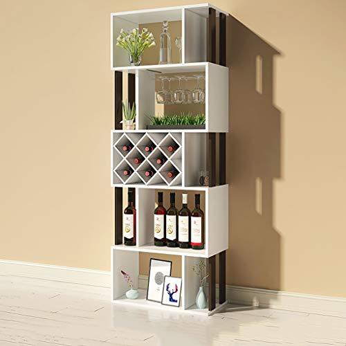 FPigSHS Porta Bottiglie da Vino Cantinetta per Vini Vetrinetta Vetrina Armadio divisorio Espositore...