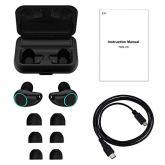 HolyHigh-Auriculares-Bluetooth-50-con-3000mAh-Estuche-de-Carga-Auriculares-Inalmbricos-Cascos-Bluetooth-120-Horas-de-Reproduccin-Micrfono-Impermeable-para-iPhone-Android-Huawei-para-Deporte-Correr