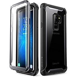 i-Blason Funda Samsung Galaxy S9 + Plus, [Ares]Carcasa protectora resistente de cuerpo completo con protector de pantalla incorporada para Samsung Galaxy S9 + Plus 2018, Negro