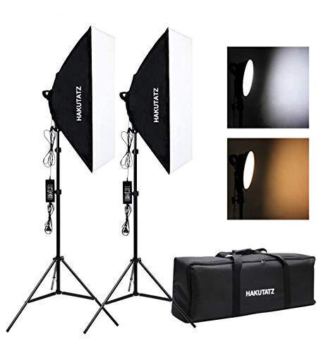 LED Softbox Set Luci Studio Fotografico Kit illuminazione Fotografica Bicolore 2700K 5500 K...