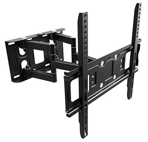 RICOO Wandhalterung TV Schwenkbar Neigbar S5244 Universal LCD Wandhalter Ausziehbar Fernseher Halterung Curved 4K OLED QLED Flachbildfernseher 80cm/32-165cm/65 Zoll/VESA 200x200 400x400/Schwarz