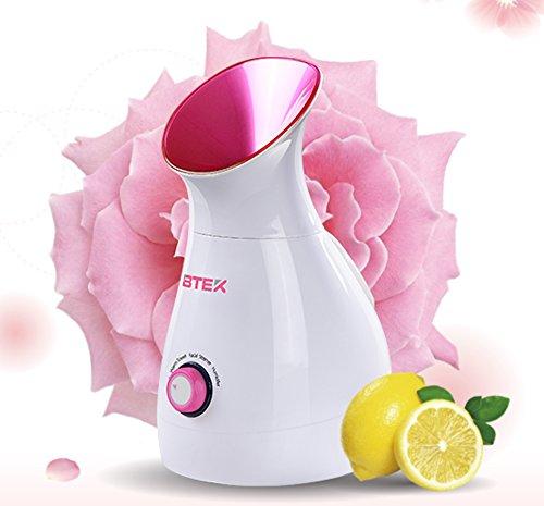 BTEK® Sauna Facial Vaporizador de Sanómetro Iónico Limpieza Profunda de Poros Hidratante Humidificador de Vapor Termal para el Cuidado de la Cara 8318