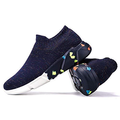 Alta elas ticity, Zapatos de Calcetines Bajos de la Pareja de Verano, Zapatos de Hombre Transpirables Casuales, Zapatos de Mujer, negro-08, 40