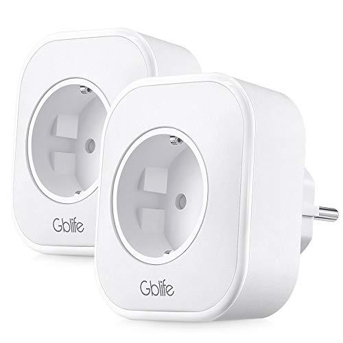 Presa Intelligente WiFi con USB, GBlife Smart Wifi Plug, Controllo Remoto/Controllo Vocale, con...