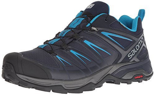 Salomon X Ultra 3 GTX, Zapatillas de Senderismo para Hombre, Gris (Graphite/Night Sky/Hawaiian Surf 000), 43 1/3 EU