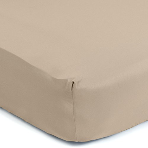 """Sealy Therma-Fresh Cooling Moisture Wicking Fitted Crib Sheet - Hypoallergenic, Temperature Responsive & Moisture Wicking Fabric, Deep Fitted Stretch Skirt 52""""x28"""" (Mocha Beige)"""