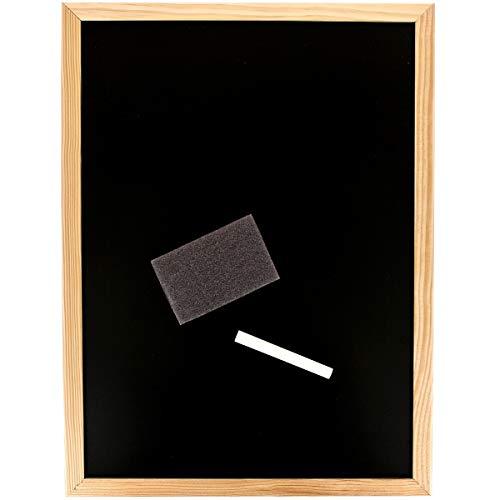 Promobo - Lavagna in ardesia memo planning da scrivere e appendere gessetto spugna 30 x 40 cm