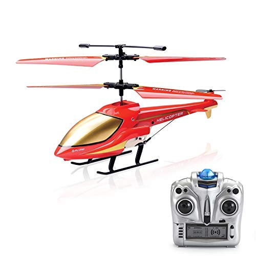 GoStock RC Hubschrauber Helikopter Ferngesteuert Indoor Drohne Flugzeug Kindspielzeug Geschenk für Kinder Fernsteuerungshubschrauber Innen 3.5 Kanäle Hobby Mini RC Fliegen Hubschrauber (Color 1)