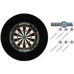 Dartset Dartona Ultimate Pro - Board + Pfeile + Surround in Schwarz