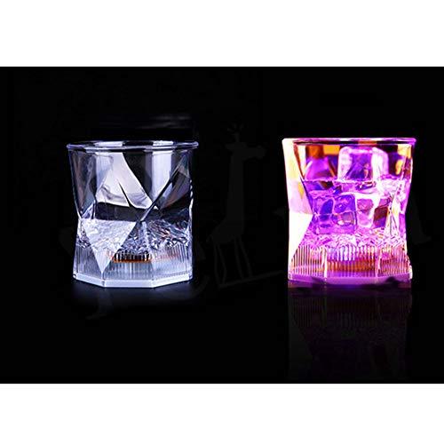 MAIZHAN Bicchiere d'Acqua Coppa Flash Light Up Coppe Lampeggiatori Luminosi Bicchieri da Vino con LED Luci incandescenti per Discoteca Bar Festa di Compleanno KTV Natale 7 PCS