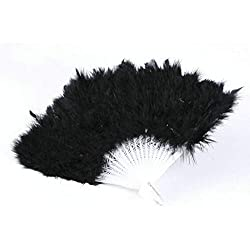 Costume Women - 1 Pcs Fancy Costumes Party 9 Colors Showgirl Feather Fans Folding Dance Hand Fan - Carnaval Little Disney Sexy Indian Hero Scottish Police Marvel Accessories Aquaman Car