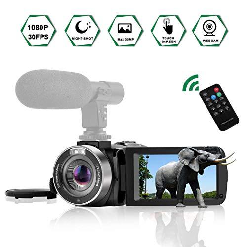 Videocamera Digitale Videocamere Full HD 1080P 30FPS Camcorder con Microfono Visione Notturna a...