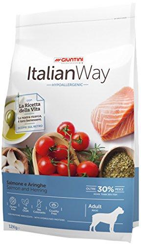 Giuntini Italian Way Crocchette per Cani - ricetta Ipoallergenica al Salmone e Aringhe - Adult -...