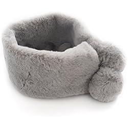 Cuello Wrap Bufandas Chal Regalo de Navidad para mujeres Chica (gris)