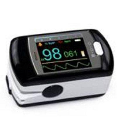 Pulsossimetro PULOX PO-300 con display a colori, funzione di allarme e software