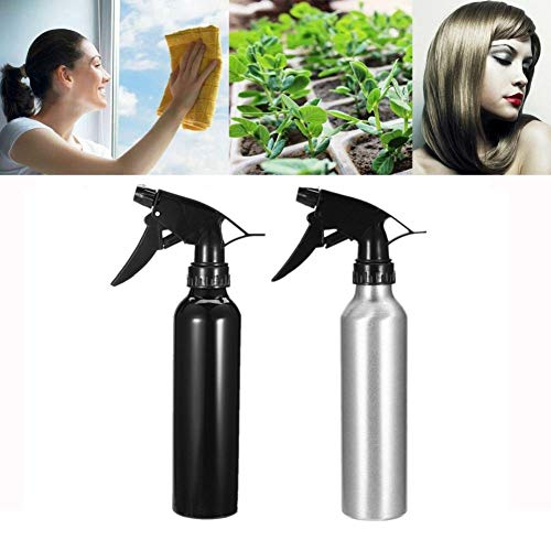 HOME REPUBLIC- 300 ml (Pack of 2) All Purpose Aluminum Spray Bottles - Ideal for Hair Care, Plant Misting and Household Cleaning