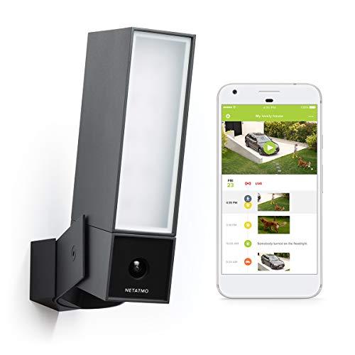 Netatmo Telecamera Wifi Esterno, Luce Integrata, Sensore Di Movimento, Visione Notturna, Senza abbonamenti, NOC01-IT (Presence)