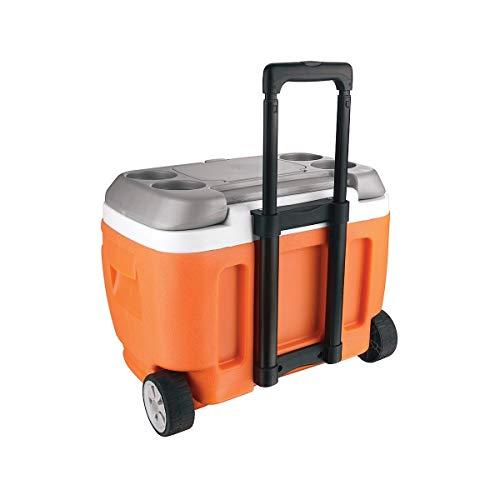 Pinnacle - Frigorifero portatile da 30 litri, con ruote, per campeggio, sport, arancione, 48 x 33,5...