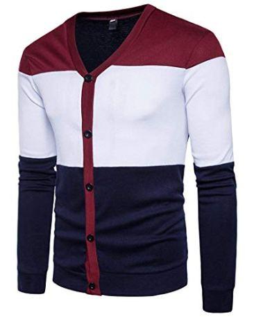 PAUSE Multicolor Solid V Neck Slim Fit Full Sleeve Men's Shrug 4