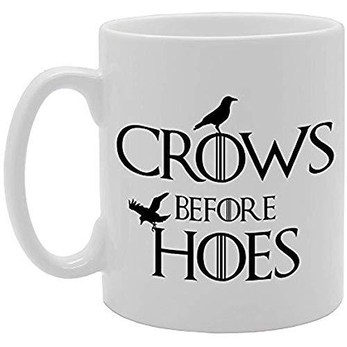 Cuervos antes de azadas Regalo de la novedad Taza de café de té de cerámica