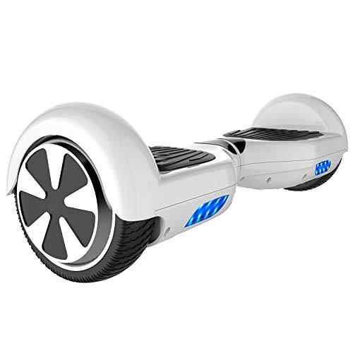 Double Hunter Hoverboard 6.5 Pouces,Self Balance Scooter,Smart Scooter Electrique 2x350W avec LED,Gyropode 6.5' Enfant Adult,UL Certifié