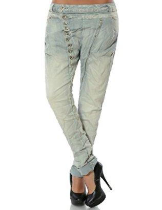 Daleus-Damen-Boyfriend-Jeans-Hose-Reiverschluss-Knopfleiste-weitere-Farben-No-14145-FarbeHellgrauGre34-XS