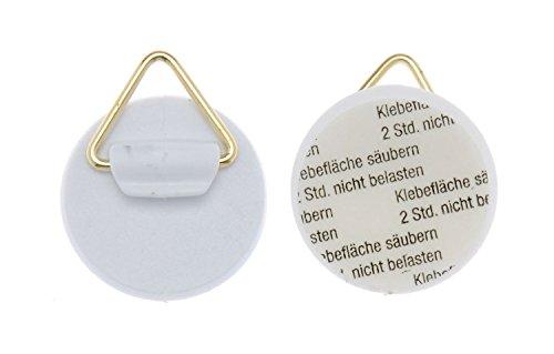 GLOREX 61716600-Soporte de pared para platos, autoadhesivo, aprox. 25mm, 4unidades)