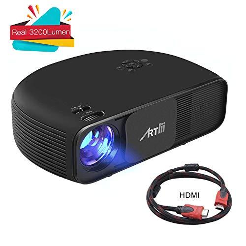 Artlii Proiettore LED,3200 Lumen Reali, Videoproiettore Supporto Full HD 1080p, per Ufficio Riunioni...