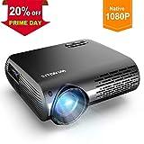 Vidéoprojecteur, WiMiUS 5000 Lumens Vidéo Projecteur Full HD 1920x1080P Natif Rétroprojecteur Supporte 4K avec Réglage Digital 70,000 Heures Projecteur LED pour Home Cinéma & Présentation...