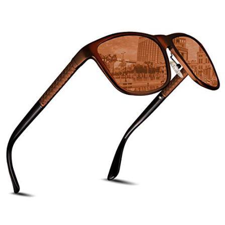 CHEREEKI-Gafas-de-sol-para-Hombre-y-Mujer-UV400-Protection-Gafas-de-sol-Deportivo-Bastidor-de-Acetato-Ideal-para-Conducir-Pesca-Ciclismo-y-Correr