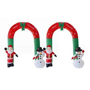 Bonhomme de neige de Santa de voûte gonflable de Noël avec la LED allume les accessoires durables d'arrangement de lieu de décorations de jardin de Noël