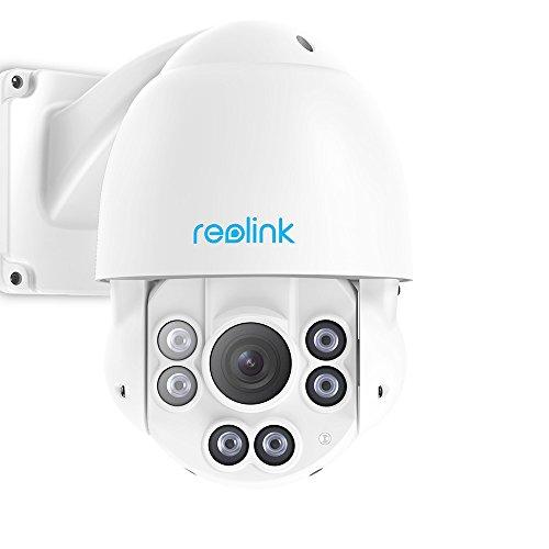 Reolink Poe Videocamera PTZ da 5MP Pan Tilt Zoom Ottico da 4X da Videocamera Esterno IP66 Impermeabile velocità Varifocale IP Cam di Sicurezza RLC-423