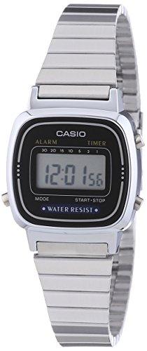 Casio Orologio Digitale Donna con Cinturino in Acciaio Inox LA-670WEA-1EF