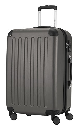 HAUPTSTADTKOFFER® Hartschalen Koffer SPREE 1203 · NEU 4 Doppel-Rollen · MATT · TSA Zahlenschloss · + KOFFERANHÄNGER (Set, Graphit) - 3