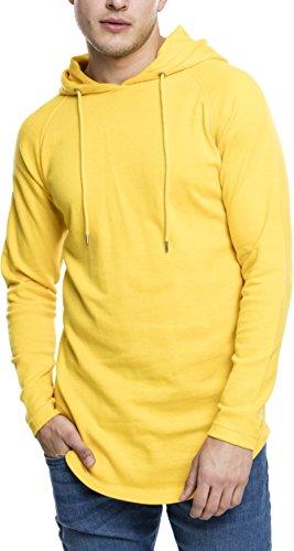 Urban Classics Long Shaped Terry Hoody Felpa, Gelb (Chrome Yellow 1148), X-Large Uomo