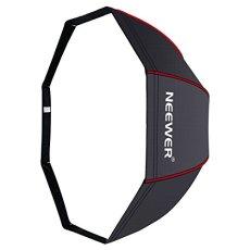 Neewer 120 cm Portable Octagonal Paraguas Softbox con Bordes Rojos y Bolsa de Transporte para Retrato o Fotografía de Producto, Adecuado para Canon Nikon Sony Speedlite, Flash de Estudio(Negro / Rojo)