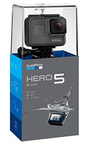 GoPro HERO5 Black Videocamera Subacquea 4K, Fino a 10 m, Sensore CMOS da 12 MP, Nero